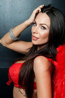 Kirsten Price Devilish In Her Red Lingerie